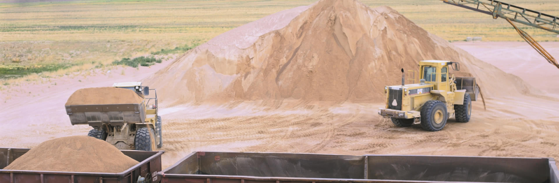 Sand pile and loading photo
