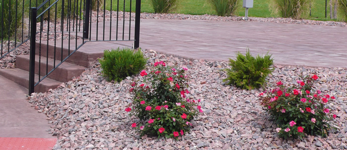 rock landscaping photo