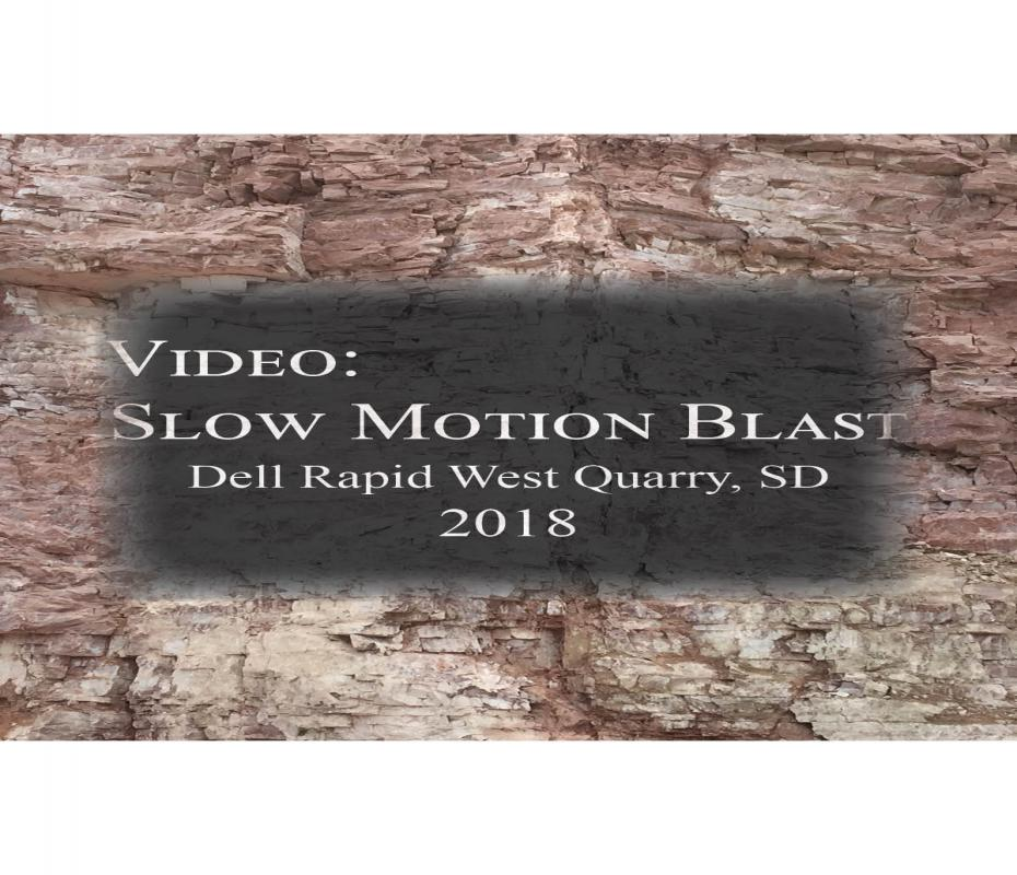 2018 Dell Rapids West Quarry Blast Video